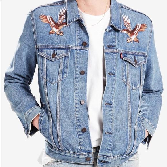 Levi limited edition denim eagle jacket